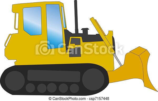 bulldozer vector vector search clip art illustration drawings rh canstockphoto com bulldozer clipart free animated bulldozer clipart