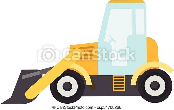 bulldozer icon flat style bulldozer icon flat clip art vector rh canstockphoto ca caterpillar bulldozer clipart bulldozer clipart black and white
