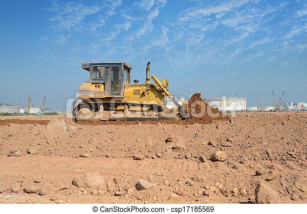 bulldozer on a building site - csp17185569