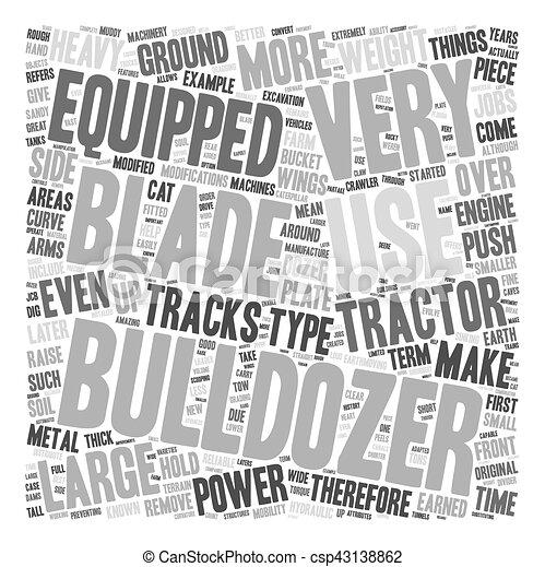 Bulldozer text background wordcloud concept - csp43138862