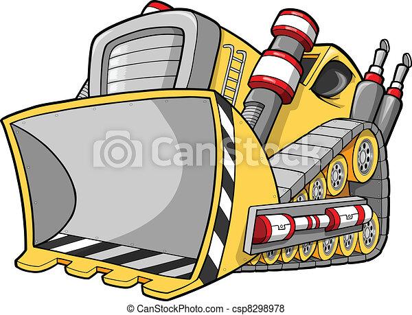 Bulldozer Vector Illustration  - csp8298978