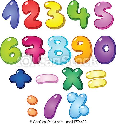 bulle, nombres, 3d - csp11774420