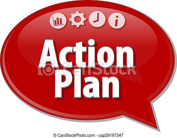 bulle, terme, plan, parole, business, action, illustration - csp29197347