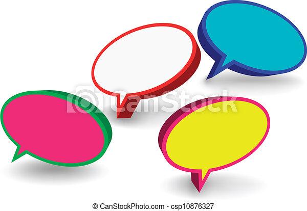 bulles, ensemble, parole, 3d - csp10876327