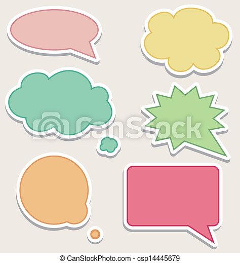 bulles, ensemble, parole, coloré - csp14445679