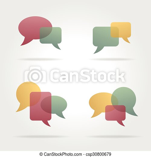 bulles, ensemble, parole, coloré - csp30800679