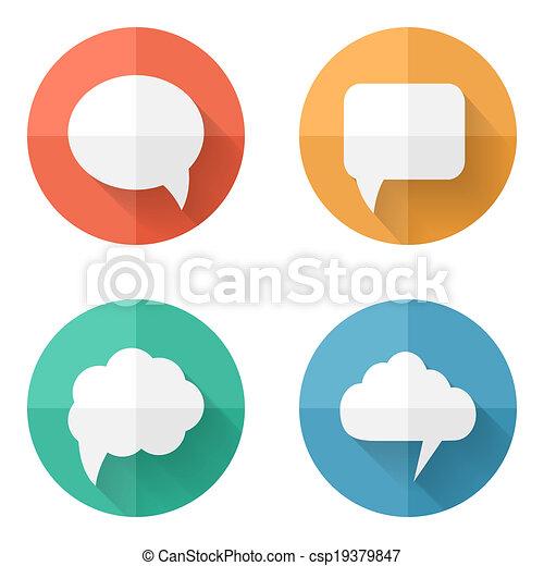 bulles, ensemble, parole, coloré - csp19379847