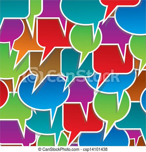 bulles, ensemble, parole, coloré - csp14101438