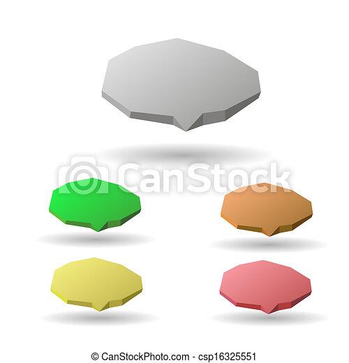 bulles, parole, coloré, 3d - csp16325551