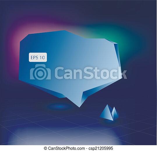 bulles, parole, coloré, 3d - csp21205995