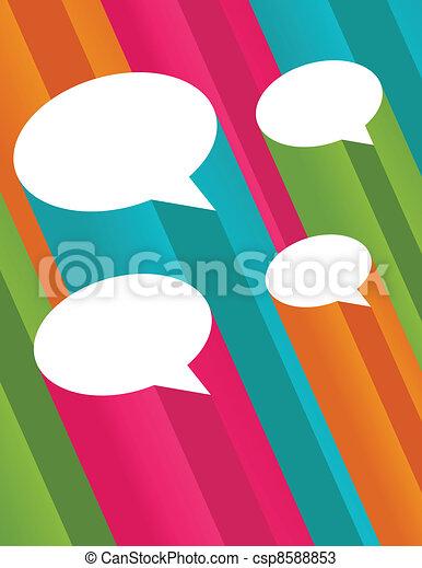 bulles, parole, coloré, 3d - csp8588853