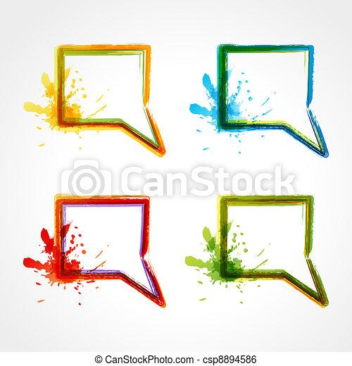 bulles, parole, coloré - csp8894586
