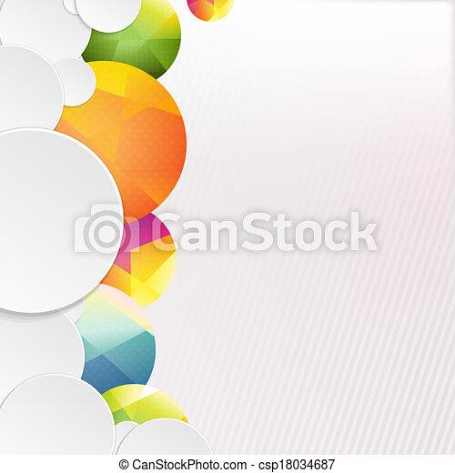bulles, parole, coloré, fond - csp18034687