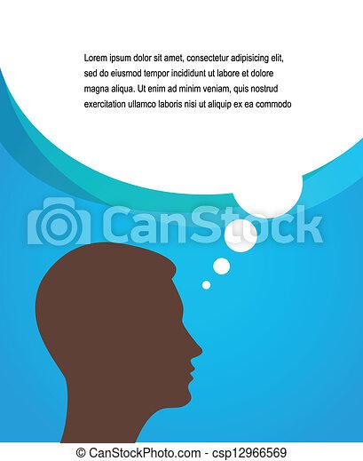 bulles, parole, homme - csp12966569