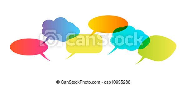 bulles, parole - csp10935286
