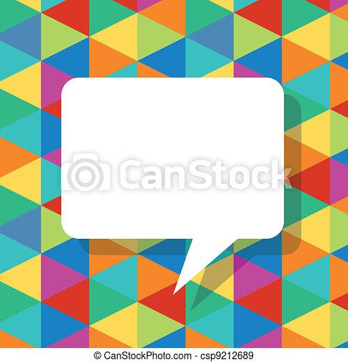 bulles, résumé, parole, gabarit, coloré - csp9212689