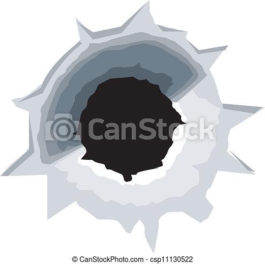 Bullet hole - csp11130522