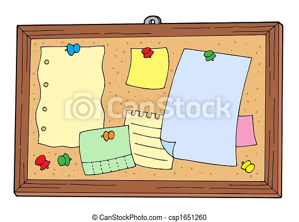bulletin board on white background isolated illustration stock rh canstockphoto com back to school bulletin board clipart bulletin board clipart free