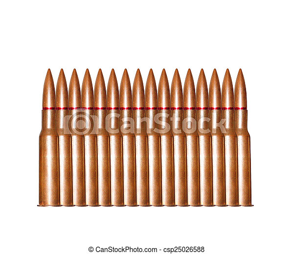 bullets on white background - csp25026588
