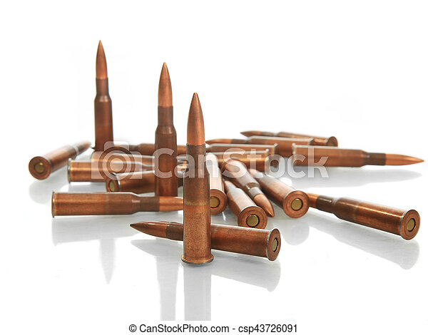 bullets on white background - csp43726091