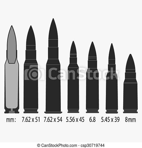 bullets Vector illustration - csp30719744