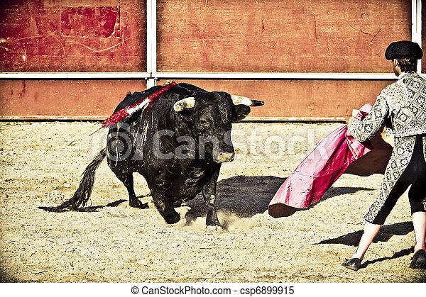bullfight., spain., matador, madrid, toro - csp6899915