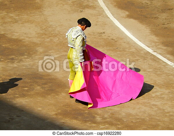 Bullfighter in the ring. brave matador - csp16922280