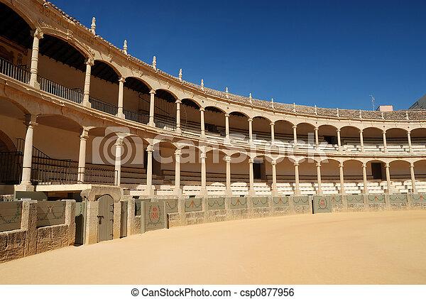 Bullfighting arena in Ronda, Spain - csp0877956