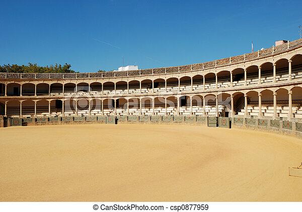 Bullfighting arena in Ronda, Spain - csp0877959