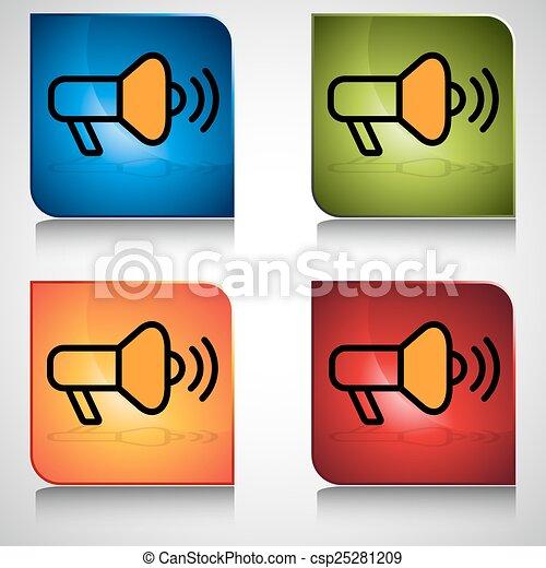 Bullhorn button an image of a bullhorn icon button bullhorn button csp25281209 publicscrutiny Gallery
