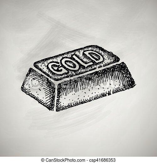 bullion gold icon - csp41686353