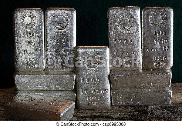 bullion impede, -, prata, ingots - csp8995008