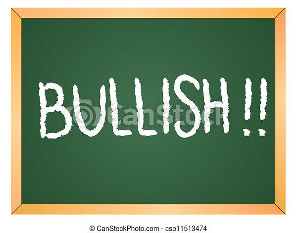 bullish word on chakboard - csp11513474