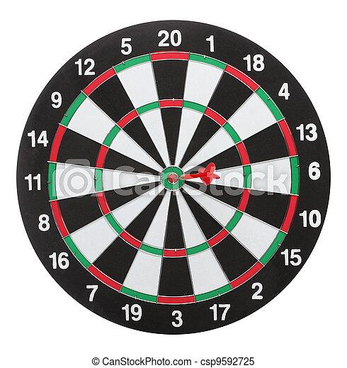 bull?s, dartboard, isolado, fundo, branca, eye. - csp9592725