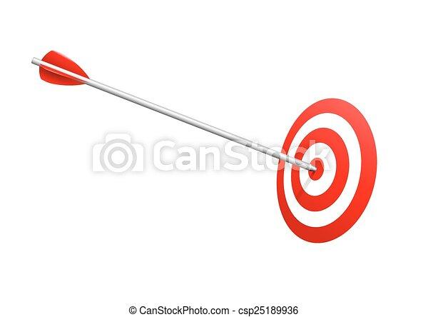 Bulls eye arrow - csp25189936