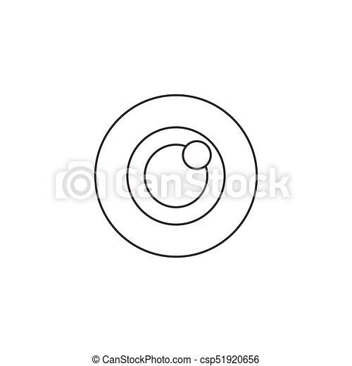 Bulls eye icon vector, target solid logo - csp51920656