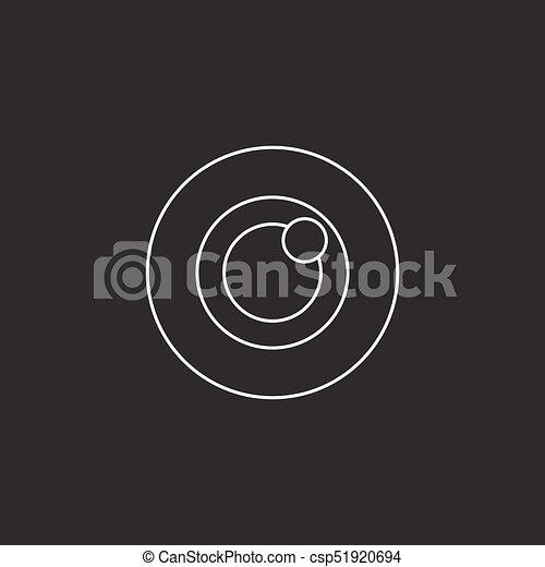 Bulls eye icon vector, target solid logo - csp51920694
