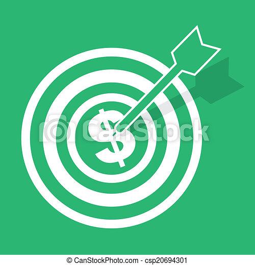 Bulls Eye Money - csp20694301