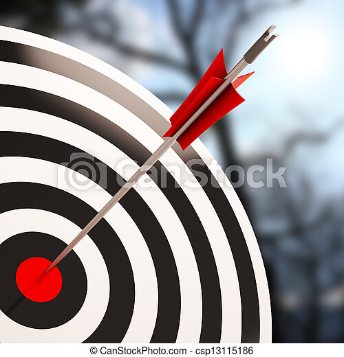 Bulls eye Shot Shows Excellence And Skill - csp13115186