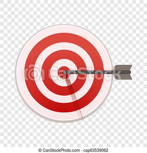 Bulls eye target icon, cartoon style - csp63539062