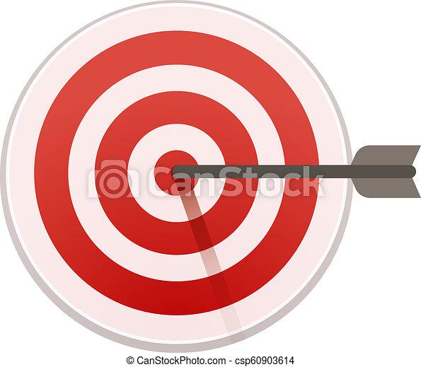Bulls eye target icon, cartoon style - csp60903614