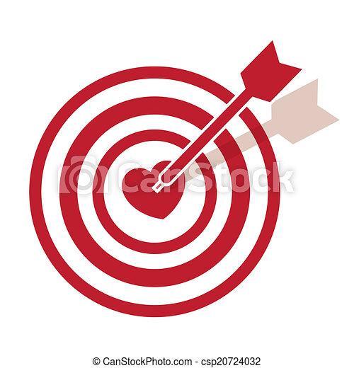 Bullseye Heart - csp20724032
