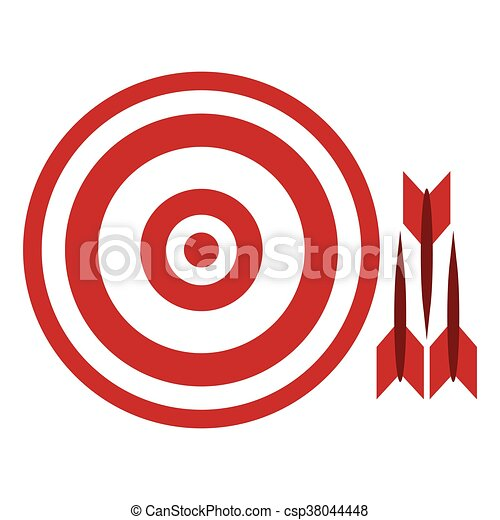bullseye with darts flat design red and white bullseye with eps rh canstockphoto ca bullseye clipart images bullseye clip art free