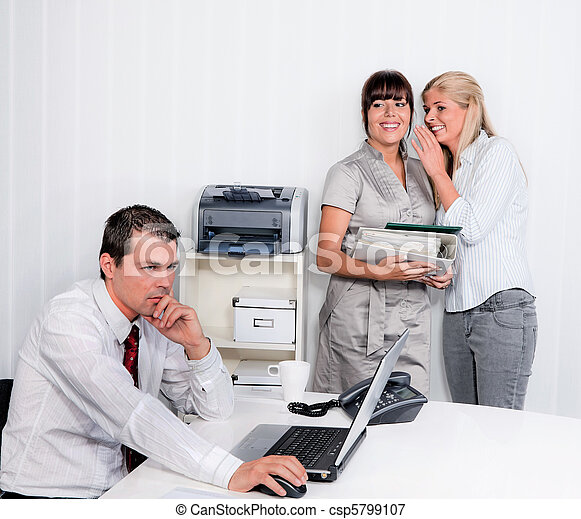 Bullying in the workplace office - csp5799107