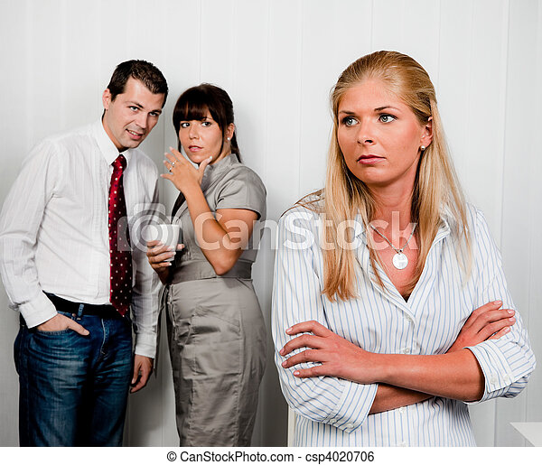Bullying in the workplace office - csp4020706