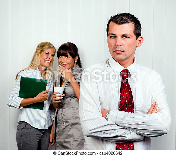 Bullying in the workplace office - csp4020642