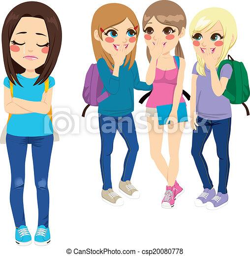 bullying, ragazze scuola - csp20080778