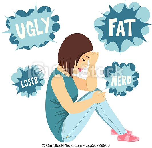 bullying teenager girl young sad teenager girl sitting on vector rh canstockphoto com bullying clipart images clipart bullying school