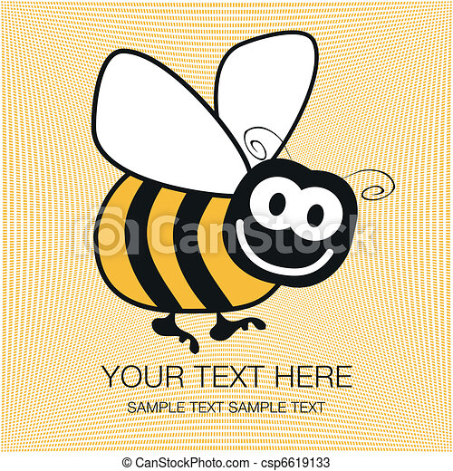 Bumble bee design. - csp6619133