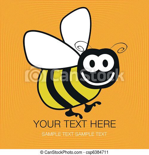Bumble bee design. - csp6384711